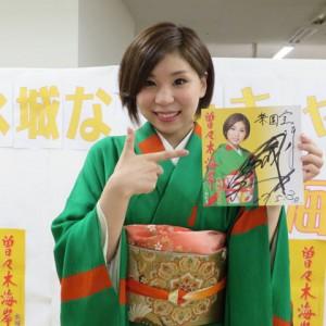 水城なつみ 曽々木海岸キャンペーン